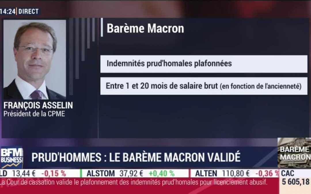 18 juillet 2019 – Barème prud'homal : le bon sens l'emporte